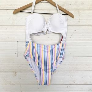 NWT Xhilaration One Piece Cut Out Swimsuit